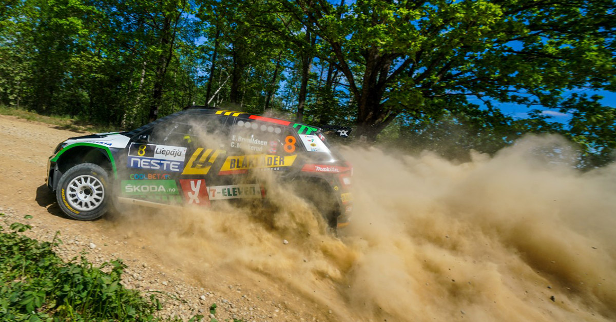 Eyvind uheldig i Rally Latvia